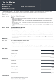 Medical Resume Medical Assistant Resume Examples Duties Skills More