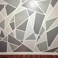 Project Nursery V1 A Geometric Mosaic Wall In Greywall Paint Ideas Pics  Simple Design With