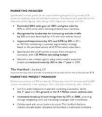Sample Marketing Resumes Marketing Manager Resume Templates ...