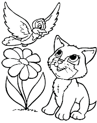 Printable Pictures Of Cats Cute Cats Coloring Sheets Warrior Pages
