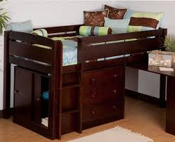 canwood whistler storage loft bed with desk bundle espresso kids teen rooms