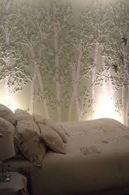 aspen tree stencil on royal blue wall pauline charpentier pl aspen sml wendy mayer tree stencil