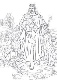 Jezus Is De Goede Herder Kleurplaat Gratis Kleurplaten Printen