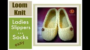 Loom Knitting Slippers Socks Projects Step By Step For Beginners Loomahat