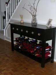 Plain Sofa Table With Wine Storage Rack Oenophilia Bali Inside Concept Design