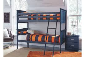 Leo Twin Bunk Bedroom with Nightstand | Ashley Furniture ...