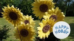 Sonnenblume Basteln Aus Papier Körnern Und Zweig Sommer Diy Youtube