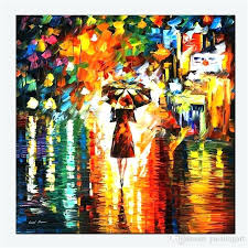 modern abstract art oil painting wall decor woman figure print on canvas rain princess from exterior