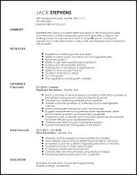 Camp Counselor Resume