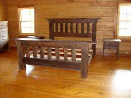 rustic bedroom furniture of handcrafted barn wood furniture is brought to life in this rustic