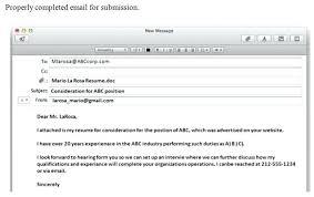 Cover Letter For Email Sending Resume Viactu Com