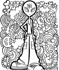 Hippie Coloring Pages Cecilymae
