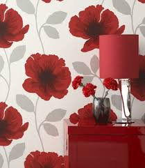 Poppy Wallpaper Home Interior