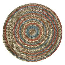 rhody rug bouquet emerald 8 ft x 8 ft round indoor outdoor braided