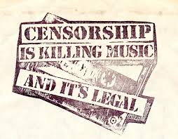 special print for vinyl inner sleeve of kalahari surfers own  censorship font text