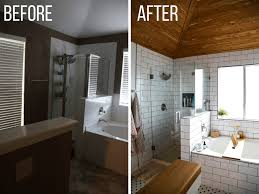 bathroom remodel before and after. A Gorgeous DIY Bathroom Renovation Remodel Before And After B