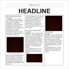 Write Your Own Newspaper Article Template Newspaper Template 164 Newspaper Article Template