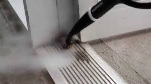 how to clean aluminium door tracks with a steam cleaner you