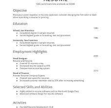 Sample Of Simple Resume For Fresh Graduate Best Of Resume Star Format Download Simple Resume Builder Resume Star Method