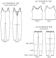 Bodysuit Sewing Pattern Amazing Christine Jonson 48 BaseWear One Leggings Top And Yoga Bodysuit
