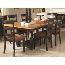 coaster charlotte rectangular dining table with block legs and bun feet coaster fine furniture