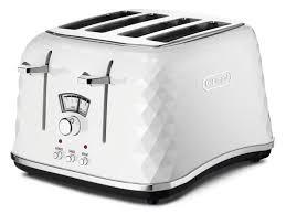 delonghi ctjw brilliante  slice white toaster at the good guys
