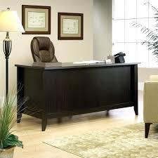 desks sauder office port executive desk in wood 240 sauder office port executive desk