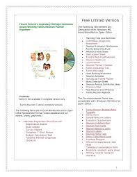 Family Reunion Book Template Family Reunion Ideas Free Planner Letter Templates Printable Budget