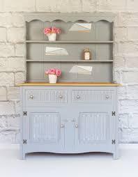vintage kitchen furniture. Rustic Welsh Dresser, Vintage Kitchen Farmhouse Display Unit, Grey Cupboard | Vinterior Furniture D