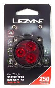 Lezyne Zecto Max Drive 250 Rear Light Lezyne Zecto Max Drive 250lm Rear Cycling Light Black