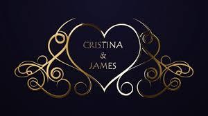 Wedding Title Golden Wedding Titles Gold After Effects 80149040
