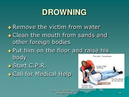 Image result for drowning treatment first aid