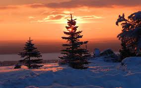 Winter Sunset Desktop Wallpaper, Winter ...