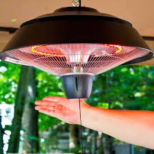 energ 1500 watt hanging electric infrared gazebo heater hammered brown com
