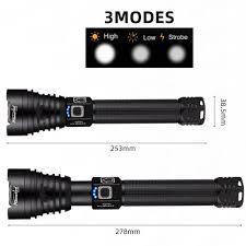Đèn pin LED Xhp90 có thể sạc lại và chống thấm nước cực tốt chất lượng cao  - Đèn pin Thương hiệu No brand