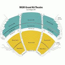 Ka Las Vegas Seating Chart Seat Numbers Mgm Arena Seating Map David Copperfield Seat Map Grand