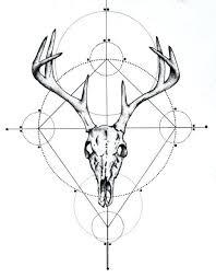 Deer Skull Art Floral Clip Ninushome