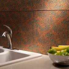 Kitchen Backsplash Panel Kitchen Dining Metal Frenzy In Kitchen Copper Backsplash Ideas