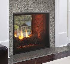 fortress see through gas fireplace heatnglo indoor outdoor