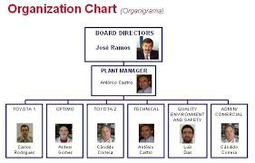 Organization Structure Chart Of Toyota