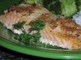 baked salmon with horseradish  ww