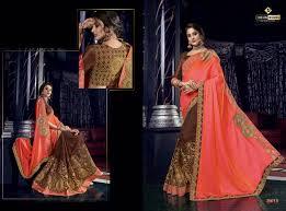 Designer Saree 2019 Indian Women Fashions Mango Vol 14 Embroidery Designer Saree