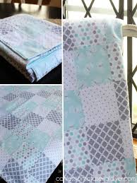 How to Make a Baby Quilt from Receiving Blankets | Confessions of ... & Baby Quilt made from receiving blankets Adamdwight.com