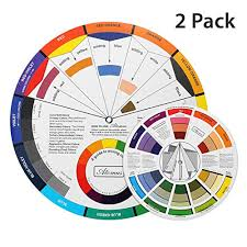 Tanssential X Atomus Color Wheel For The Artists 2 Packs Color Mixing Guide Color Scheme Guide Showing Color Relationships 1 Pocket Size 5 5 Inch