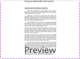 essay on diet health and exercise custom paper service essay on diet health and exercise the importance of physical fitness cannot be emphasized enough