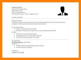 Simple Sample Resume 8 9 Simple Resume Layout Sample Archiefsuriname Com