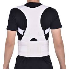 HURRISE Men Women Elastic Adjustable Shoulder Brace Waist Belt Back Support Posture Corrector,