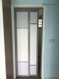 aluminium frame slide swing door with acrylic panel