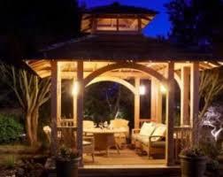 Outdoor pergola lighting ideas Led Fence Company Outdoor Gazebo Lighting Ideas