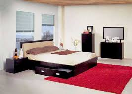 bedroom furniture inspiration. Enchanting Bedroom Furniture Ideas With Pink Fur And Black Bed Inspiration T